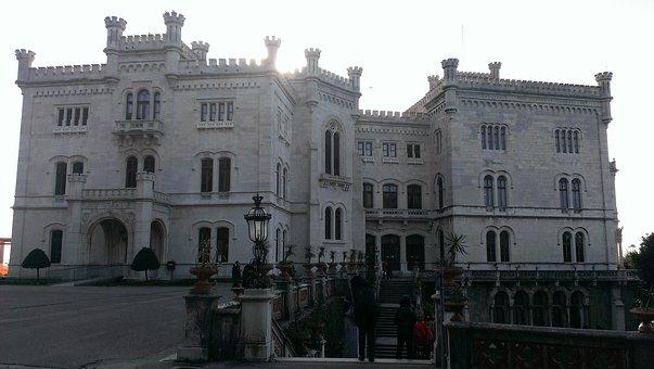 Miramare, Castle, Trieste, Italy, Miramare Castle