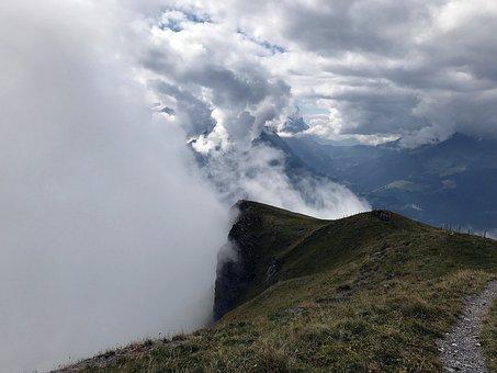 Fog, Clouds, Mountains, Rising Fog, Autumn, Hasliberg
