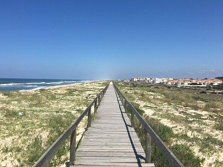 Boardwalk, Portugal, Coastal Path, Pilgrimage