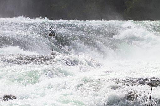 Rhine Falls, Rhine, Waterfall, River, Water Mass