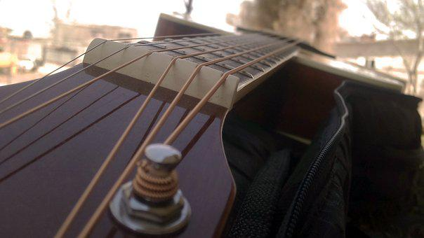 Guitar, Ropes, Instrument, Musician, Music