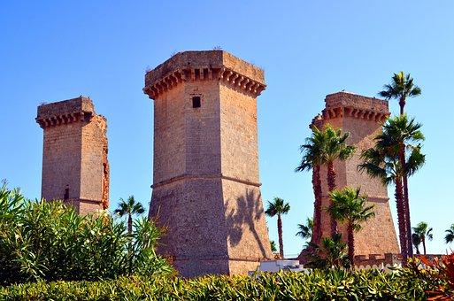 Towers, Four Columns, Santa Maria Al Bagno, Salento