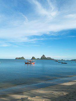 Beach, Prachuap Khiri Khan, Sea, The Gulf Of Thailand