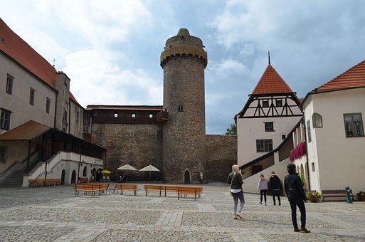 Strakonice, Castle, Tower, Czech Republic, Tourism