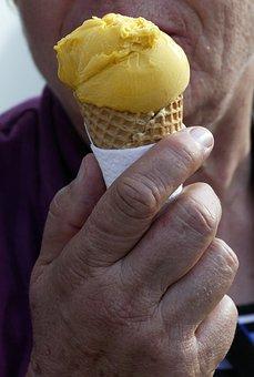 Ice Cream, Hand, Waffle, Ice, Pleasure, Benefit From