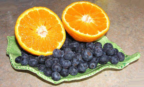 Mandarin, Blueberries, Fruit