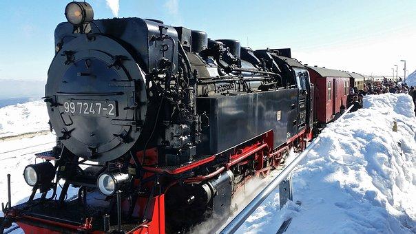 Brocken Railway, Brocken Station, Steam Locomotive