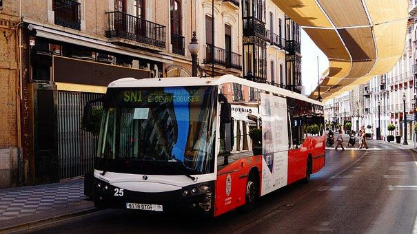 Spain, Granada, Transport, Bus, City, Public Transport