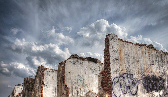 Hdr, Destroyed Area, Old Factory, Desolate