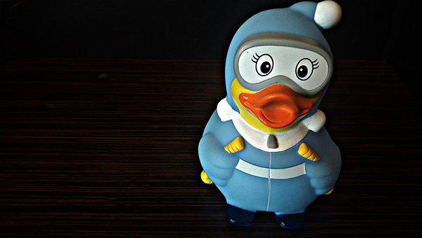 Duck, Rubber Duck, Toy, Bath, Fun