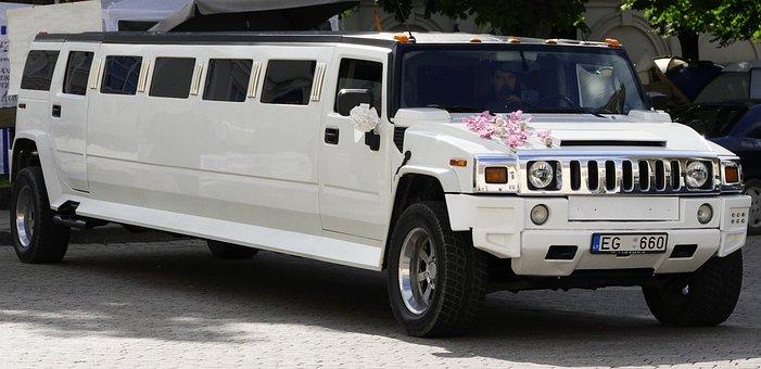 Stretch Limousine, Extra Long, Auto, Stretch, White