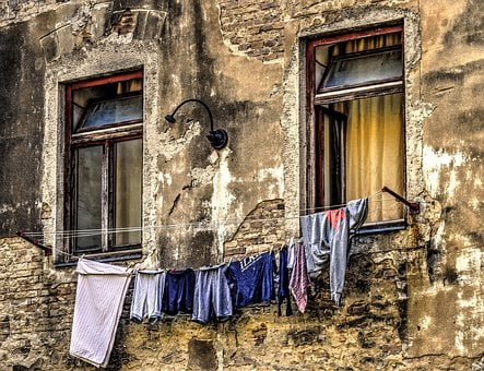 Clothesline, Laundry, Clothing, Clean, Facade