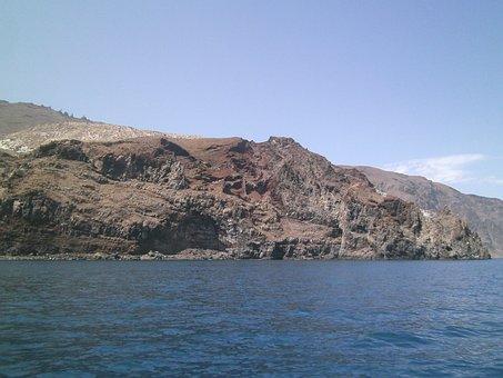 Guadalupe Island, Volcanic, Rock, Water, Sea
