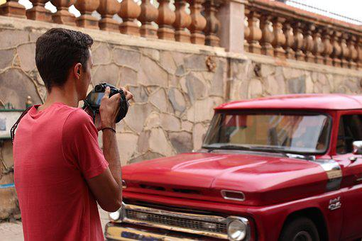 Truck, Red, Photography, Color, Mexican, Mexico