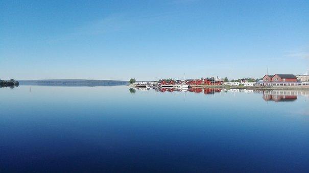 Morning, Piteå, Sweden, Calmly, Summer, Lake