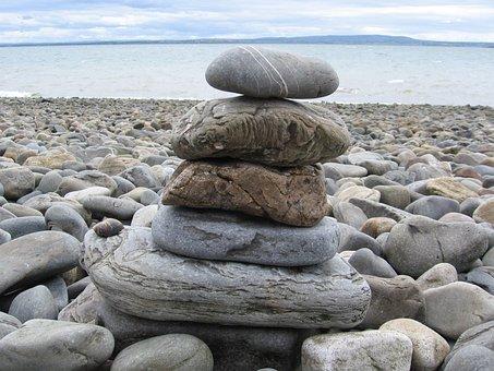 Stones, Stack, Zen, Seashore, Rock, Nature, Balance
