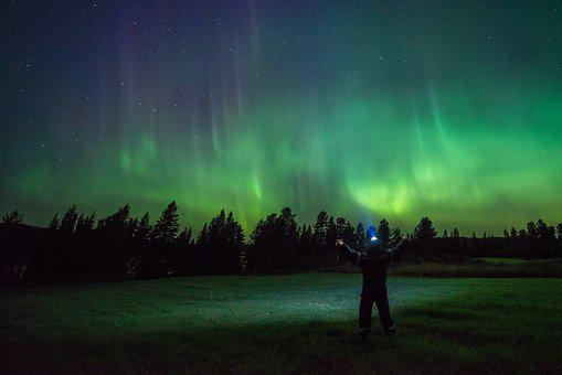 Northern Lights, Night Shot, Mysterious, Evocative