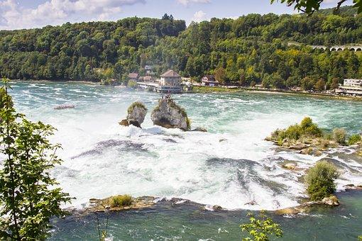 Rhine Falls, Rhine, Schaffhausen, Waterfall, Foaming