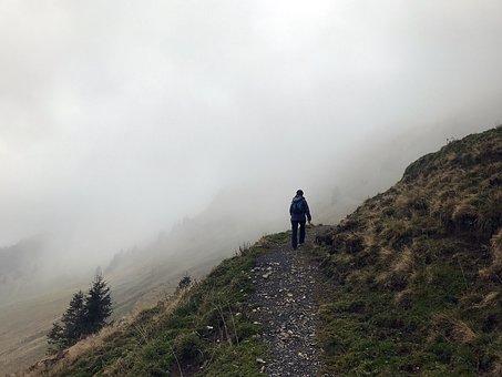 Fog, Hiking, Mountains, Rise, Mood, Hasliberg