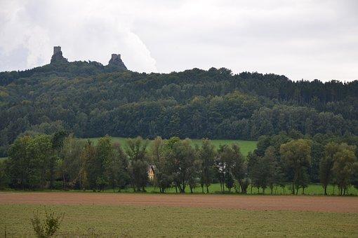 Czech Republic, Trosky Castle, Castle, Ruins, Landscape