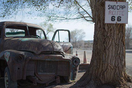 Usa, Arizona, Route66, Seligman, Auto, Rust Bucket