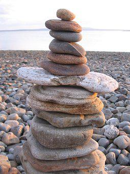 Beach, Stones, Stonestack, Rock, Travel, Ocean, Sky