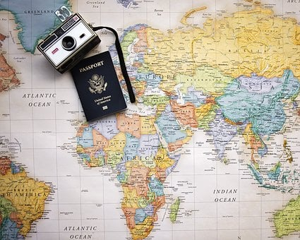 Passport, Map, World, Trip, Tourism, Vacation, Travel