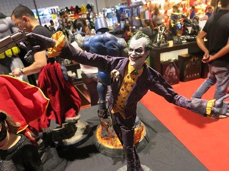 Joker, Comics, Statue, Clown, Villain, Evil, Convention