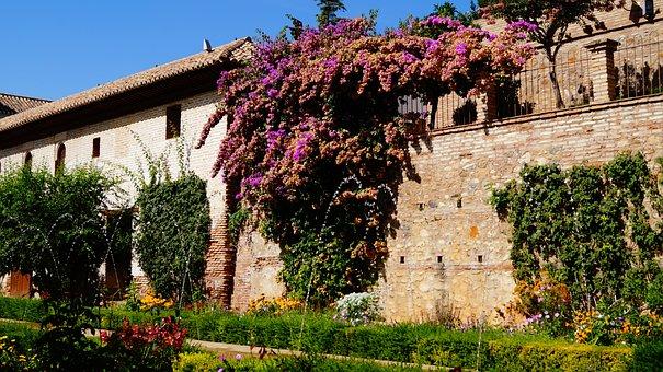 Spain, Granada, Andalusia, The Generalife-the Garden