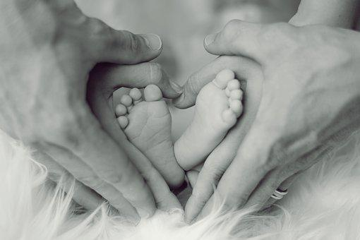 Baby, Feet, Father, Mother, Small Child, Ten, Baby Feet
