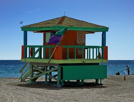 Usa, Miami, Miami Beach, Beach