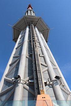 Tower, Guangzhou, Sky, China, City, Building, Landmark