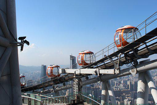 Guangzhou, Tower, China, City, Landmark, Asia, High