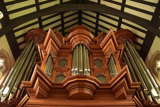 Organ, Gothic Musical Instrument, Symmetry, Geometry