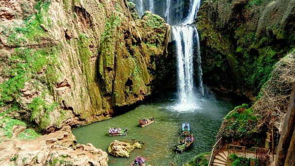 Waterfall, Holidays, Travel, Panorama, Rocks, Nature