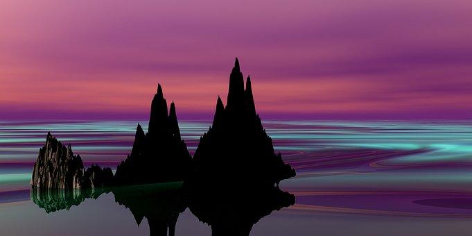 Landscape, Fantasy, Sky, Landscape Water, Mood
