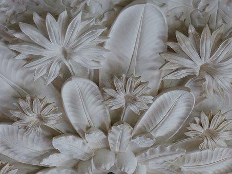 Ornament, Molding, Decoration, Ceiling, Plants