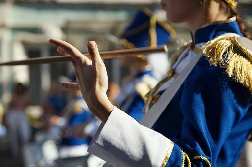Drum, Drummer, Music, Marsh, Parade, Street, City