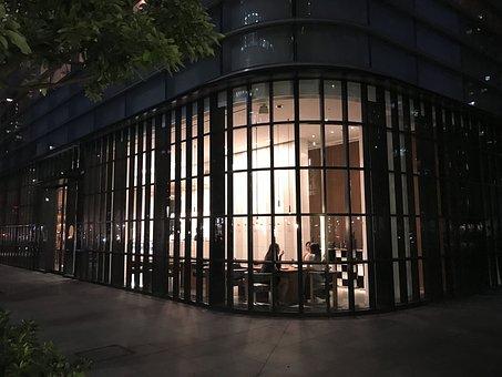 Night, Tokyo, Cafe, Street, City, Tower, Night View