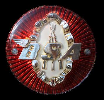 Emblem, Logo, Bsa, Motorcycle, Oldtimer, Symbol, Chrome