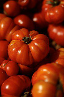 Tomato, Red, Ripe, Heirloom, Vegetable, Organic, Food