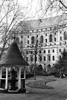 City, London, Finsbury, Park, Square, Autumn