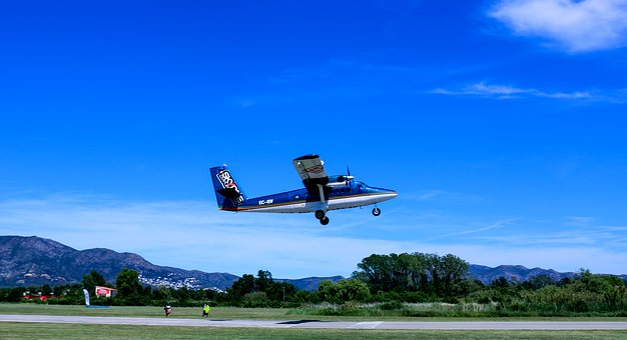 Plane, Skydiving, Air, Sport, Parachute, Sky, Flat