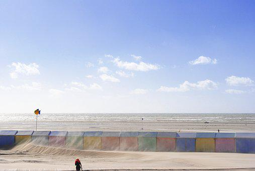 Wind, France, Man, Sky, Nature, Stroll, Sand, Landscape
