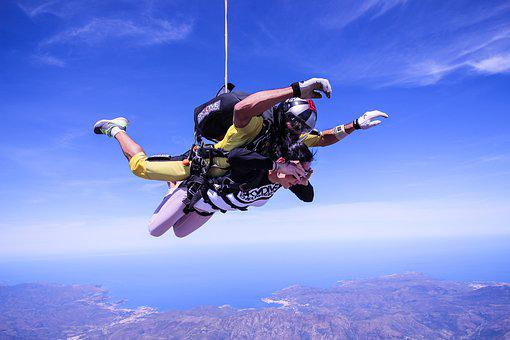 Skydive, Spain, Action, Extreme, Paragliding, Sky, Fly