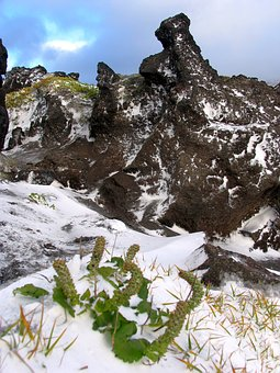 The First Snow, Mountains, Stones, Slopes, Height, Snow
