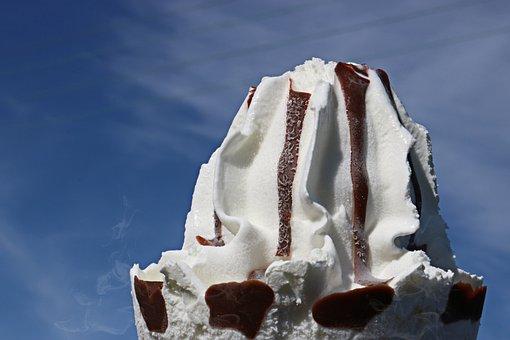 Ice Cream, Sky, Ice, Cream, Summer, Dessert, Sweet