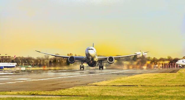 Virgin, Airline, Sky, Flight, Air, Airplane, Airport