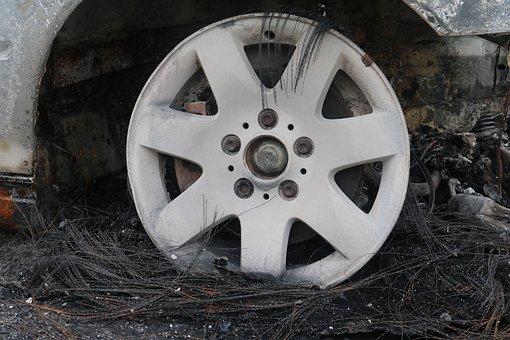 Wheels, Auto, Mature, Wheel, Scrap, Shut Off, Vehicle