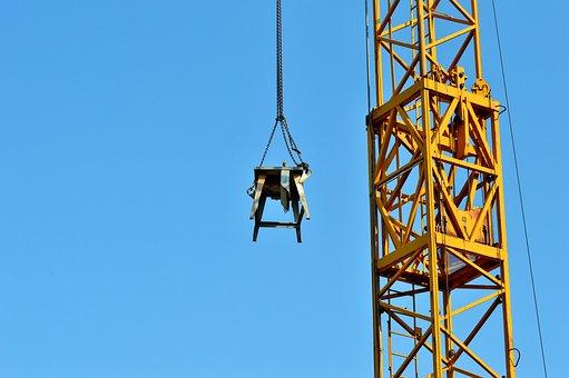 Crane, Baukran, Load Crane, Crane Arm, Lift Loads